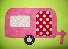 Fabric Applique TEMPLATE ONLY Camper Trailer by etsykim on Etsy, $1.50