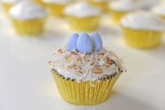 Coconut Nest Cupcakes | Cupcakes and Cashmere