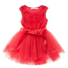 Here it is by popular demand!  Our stunning rosette bodice tutu in red - the perfect dress for Christmas!  Gorgeous red girls tutu dress by Designer Kidz.  Little Boo-Teek - Designer Girls Dresses | Childrens Clothing Online | Party Tutu