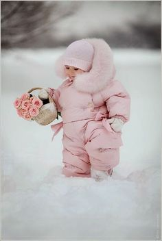 Little Pink Snow Angel cute photography pink sweet winter baby snow roses basket So Cute Baby, Baby Kind, Baby Love, Cute Kids, Cute Babies, Precious Children, Beautiful Children, Beautiful Babies, Sweet Pictures