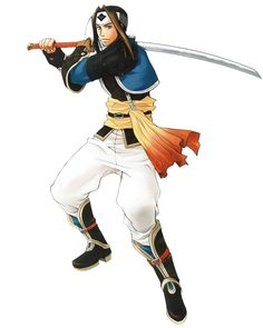 Dinn from Suikoden V. Might make a decent cosplay except nobody'd recognize it.