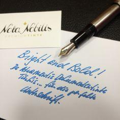 """""""Bright and Bold!"""" Die perfekte Tinte für die Unterschrift!   Verschmieren der Tinte beim Unterschreiben war gestern, denn die """"Dokumententinte Türkis"""" von DeAtramentis trocknet binnen von Sekunden. Natürlich ist sie auch dokumentenecht.  Natürlich bei www.nota-nobilis.at  #X47 #mb #MB146 #montblanc #DeAtramentis #dokumententinte_türkis #bold #luxury #legend #notebook #Füller #Füllfeder #fountainpen #fp #signature #unterschrift #notiz  #note"""