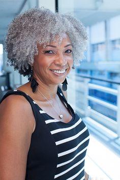 Curly Cruising - Beautiful gray naturals Mildred Bean