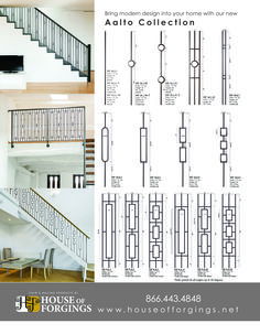 Increase the value of your home with a stair remodel using our unique styles and finishes available in our wrought iron balusters. Staircase Railing Design, Metal Stair Railing, Interior Stair Railing, Wrought Iron Staircase, Staircase Handrail, Balcony Railing Design, Staircase Makeover, Modern Staircase, Railing Ideas