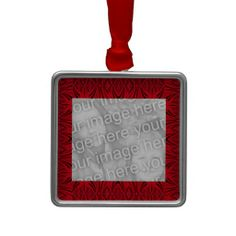 Elegant Personalize and add your own photo Elegant Red Black Pattern Ornaments