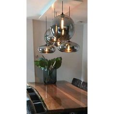 Pin on Einrichtung Pin on Einrichtung Minimalist Dining Room, Linear Lighting, Dining Area, New Homes, Bulb, Chandelier, Ceiling Lights, Inspiration, Living Room
