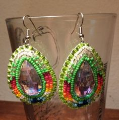 Hypoallergenic Glass Bead Earrings by IronEagleLeatheretc on Etsy