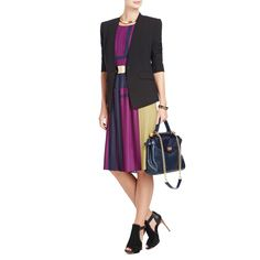 BCBGMAXAZRIA - SHOP BY CATEGORY: DRESSES: VIEW ALL: ARLENEY COLOR-BLOCKED PLEATED DRESS