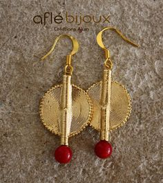Aflé Bijoux African Earrings Red Coral Earrings #aflebijoux #bijoux #etsy #jewelry