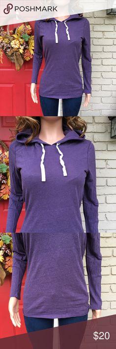 3b72ed97ce38 GAP purple hooded lightweight long sleeve tee