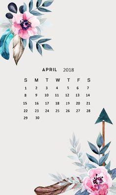 Amazing April 2018 Calendar Wallpaper