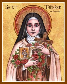 """We look to the """"little way"""" of St. Therese as our model today! icon by Theophilia on deviantART. #newevangelization"""
