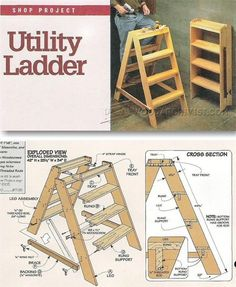 Wooden Step Ladder Plans - Workshop Solutions Projects, Tips and Tricks | http://WoodArchivist.com