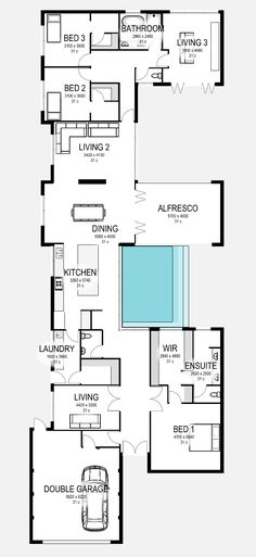 Floor Plan Friday: Modern home with feature pool and alfresco