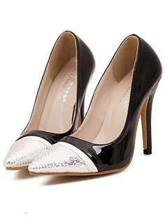 0bd1a6084e5 Black High Heel Snakeskin Pumps -SheIn(Sheinside). Black High Heels