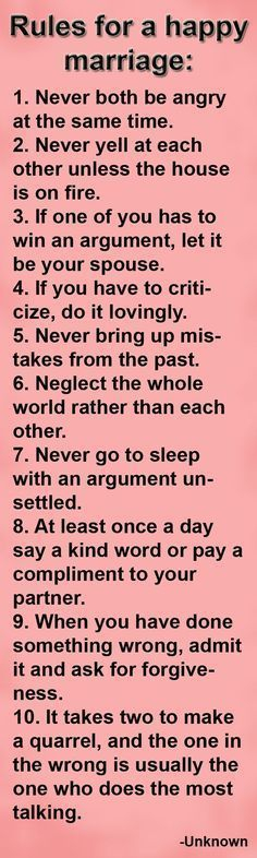 Rules For A Happy Marriage love relationships marriage married marriage quotes wife husband love infographics healthy marriage marriage tips #MarriageCounselingDIY