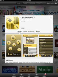 Find it in the App Store  https://itunes.apple.com/us/app/tool-tracker-app/id628421914?mt=8