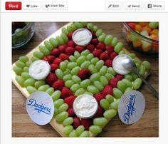 baseball diamond fruit tray - Google Search