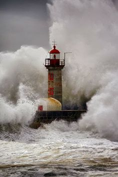 Stormy Sea & Lighthouse