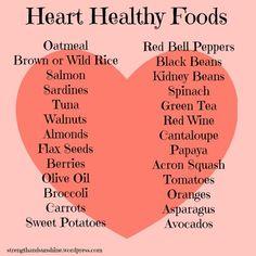 Healthy diet meals Heart Healthy Foods Strength and Sunshine Heart Healthy Diet, Heart Healthy Recipes, Healthy Breakfast Recipes, Heart Diet, Healthy Options, Heathy Food Recipes, Heart Disease Diet, Heart Healthy Breakfast, Dash Diet Recipes