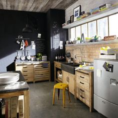 Get Inspired: Vintage Kitchen Design With Industrial Touches | eatwell101.com