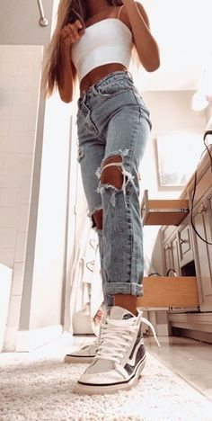 Trendy Summer Outfits, Cute Comfy Outfits, Stylish Outfits, Casual School Outfits, Diy Outfits, Simple Teen Outfits, Cute Outfit Ideas For School, Teen Winter Outfits, Summer Clothes