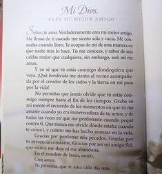 Mi Dios gracias. Eres mi mejor amigo. #Lecturadeldía Libro: #OracionesAMiRey Autora: #SheriRose Praise And Worship, Dear God, My Princess, Gods Love, Fathers Day, Bible Verses, Pray, Religion, Spirituality