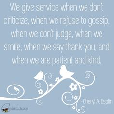 Love this quote from the LDS General Women's Conference