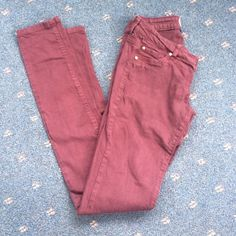 Garage size 1 jeggings! Garage size 1 jeggings! Skinny leg in the maroon color. Super cute for winter! Closet picture to show true color is picture 3! Garage Jeans Skinny