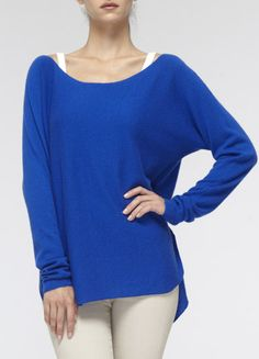 Vince Cashmere Shirt-Tail Sweater