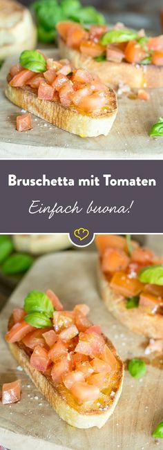 Saftige Tomaten, ein paar Gewürze hier und da und knuspriges Brot - mehr brauchst du nicht für diesen italienischen Bruschetta-Traum.