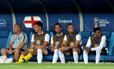 Jesse Lingard Photos - Harry Kane of England looks on from the bench during the 2018 FIFA World Cup Russia group G match between England and Belgium at Kaliningrad Stadium on June 28, 2018 in Kaliningrad, Russia. - England vs. Belgium: Group G - 2018 FIFA World Cup Russia Kaliningrad Russia, Jesse Lingard, Harry Kane, Man United, Fifa World Cup, Belgium, Bench, June, Soccer