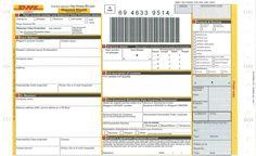 Bağlantı DHL hava faturaları sipariş için
