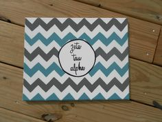 Chevron Sorority painting! Totally doable for the dorm