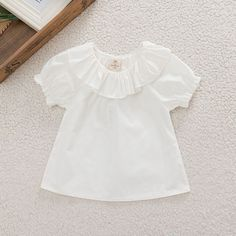 >> Click to Buy << Sweet Baby Girls Puff Sleeve Blouse Kids White Shirt Summer 2017 Tops 0-30 M #Affiliate