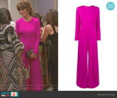 Lisa's pink wide-leg jumpsuit on The Real Housewives of Beverly Hills Lisa Rinna, Housewives Of Beverly Hills, Pink Jumpsuit, Fashion Tv, Real Housewives, Reality Tv, Housewife, Wide Leg, Ready To Wear