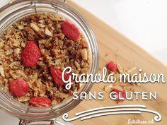 Granola aux fraises sans gluten