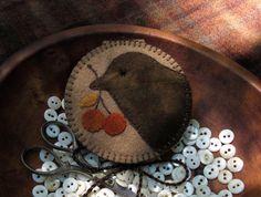 Primitive Hand Dyed Wool Needlebook Pinkeep Needle Minder Magnet OOAK Pincushion in Antiques, Primitives | eBay