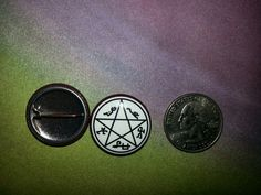 """Devil's Trap 1"""" button Available at our Etsy Store- TravelersWagon"""