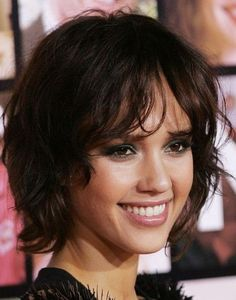 Short Wavy Hairstyles With Bangs Textured Bob Hairstyles, Bob Haircuts For Women, Curly Hair With Bangs, Short Bob Haircuts, Cute Hairstyles For Short Hair, Curly Bob Hairstyles, Short Hair Cuts For Women, Short Curly Hair, Curly Hair Styles