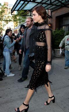 Alexa Chung - Celebs Head to the Met Gala in NYC