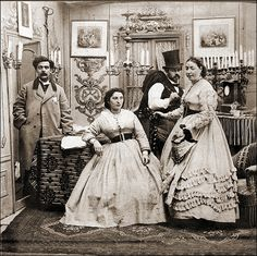 Half of a genre stereoview, ca. 1860-70