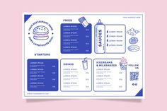 Restaurant menu template for fast food F... | Free Vector #Freepik #freevector #food #menu #template #restaurant Menu Restaurant, Restaurant Menu Template, Restaurant Identity, Brochure Design, Branding Design, Identity Branding, Stationery Design, Food Menu Template, Menu Templates