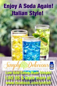 Enjoy A Soda Again, Italian Style - Simply Delicious: Low Acid Foods Made Easy