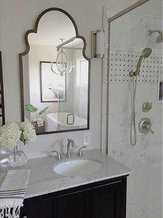 Benjamin Moore Pale Oak Wall Color | Master Bathroom Renovation by Scout & Nimble