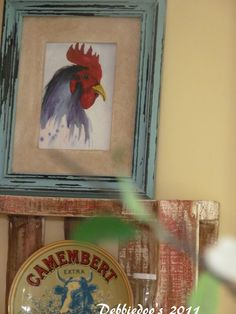 images of roosters to paint on wood | Country french roosters, cont.. and another wood pallet! - Debbiedoo's