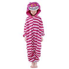 Kigurumi+Pijamas+New+Cosplay®+/+Gato+Malha+Collant/Pijama+Macacão+Festival/Celebração+Pijamas+Animal+Rosa+Miscelânea+Mink+Velvet+Kigurumi+–+BRL+R$+67,57