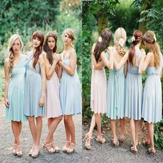 Convertible Strapless Knee Length Pastel Color Jersey Bridesmaid Dress For Outdoor Garden Summery Beach Wedding The bridesmaiddresses are fully lined, 4 bones in the bodice, chest pad in the bust, lace up back or zipper back are all available, total 126 colors are available.This dress could be custom made, there are no extra cost to do custom size and color.Description1, Material:jersey2, Color: picture color or other colors, there are 126 colors are available, please contact us for more…