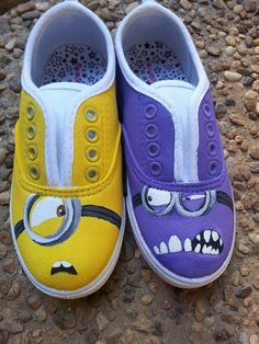 Custom Painted Despicable Me Minion Shoes by TwinStudios on Etsy