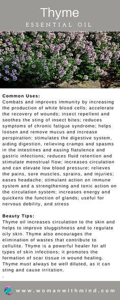 Thyme Essential Oil Guide & Application #essentialoils #diybeauty